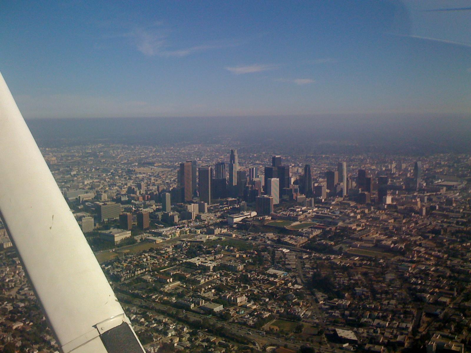 Safak flying over L.A.